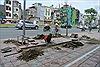 Hà Nội kiểm điểm việc thi công vỉa hè Hoàng Cầu