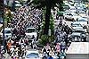 Kẹt xe nghiêm trọng tại khu vực sân bay Tân Sơn Nhất