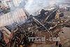 Hiện trường vụ cháy lớn thiêu rụi siêu thị Thành Đô