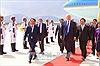 Những hình ảnh đầu tiên Tổng thống Mỹ Donald Trump đặt chân xuống Đà Nẵng