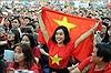 Cổ động viên TP Hồ Chí Minh đội mưa xem U23 Việt Nam