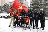 Cổ động viên rầm rập thẳng tiến Thường Châu, Trung Quốc cổ vũ U23 Việt Nam