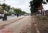 Công an quận Tây Hồ xử lý xe gây bụi bẩn trên đường Võ Chí Công