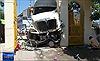 Container mất lái đâm  nát 5 xe máy ở Vũng Tàu