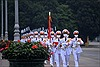 Trang nghiêm lễ thượng cờ tại Quảng trường Ba Đình nhân dịp 45 năm ngày thống nhất đất nước