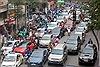 Cận Tết, đường phố Thủ đô người xe như mắc cửi, chen nhau chật vật vì tắc đường