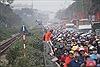 Ngày 27 Tết, Quốc lộ 1A cũ tắc nghẽn do lượng người đổ về quê quá đông