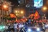 Dòng người vỡ oà ăn mừng chiến thắng cùng đội tuyển Olympic Việt Nam