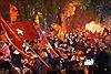 Biển người ở TP Hồ Chí Minh hát vang Như có Bác Hồ trong ngày vui đại thắng