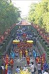 Dâng cúng bánh tét Quốc tổ Hùng Vương tại TP Hồ Chí Minh