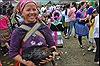 Chợ quê trong lễ hội Tết rừng của người Mông ở Yên Bái