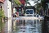 Ngập sâu giữa thành phố Bắc Ninh dù bão đã đi qua