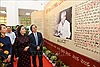 Triển lãm tư liệu '50 năm thực hiện Di chúc Chủ tịch Hồ Chí Minh'