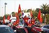 Hà Nội ngập tràn sắc đỏ chào đón Đoàn thể thao và Đội tuyển U22