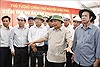 Thủ tướng Nguyễn Xuân Phúc kiểm tra tuyến cao tốc Trung Lương - Mỹ Thuận