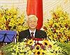 Tổng Bí thư, Chủ tịch nước Nguyễn Phú Trọng thăm đại diện cộng đồng và doanh nghiệp Việt Nam tại Campuchia