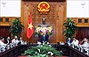 Thủ tướng Nguyễn Xuân Phúc tiếp đoàn đại biểu người có công quận Hải Châu (Đà Nẵng)
