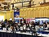 Buổi sáng đầu tiên bận rộn tại Trung tâm báo chí Hội nghị Thượng đỉnh Mỹ-Triều Tiên lần 2