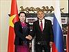 Chủ tịch Quốc hội Nguyễn Thị Kim Ngân hội kiến Tổng thống Cộng hòa Tatarstan thuộc LB Nga
