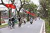 Hà Nội rực rỡ cờ hoa chào mừng 45 năm Ngày thống nhất đất nước