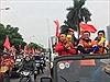 Dàn xe Jeep 'chất lừ' trên phố Hà Nội tiếp lửa cho đội tuyển Việt Nam