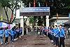 Thanh niên tình nguyện tích cực hỗ trợ thí sinh dự thi THPT quốc gia