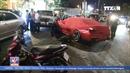 'Siêu xe' tông vào nhà hàng, nhiều người tháo chạy