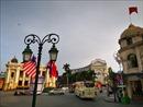 Cờ Việt, Mỹ, Triều tung bay chào đón Hội nghị thượng đỉnh Mỹ- Triều lần 2