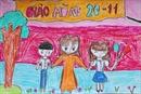 Khi học trò vẽ thày cô trên báo tường ngày 20/11