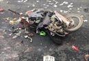 4 người thương vong trong vụ va chạm container và xe máy ở Ba Vì, Hà Nội
