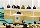 Chủ tịch Quốc hội dự và phát biểu tại Phiên họp toàn thể của Hội đồng Liên bang Nga
