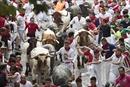 Nhiều người nhập viện trong lễ hội rượt bò tót ở Tây Ban Nha