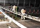 Truy tìm xe tải bỏ trốn sau khi gây sập mái che cầu vượt trước cửa hầm Thủ Thiêm