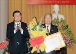 Trao Huy hiệu 55 năm tuổi đảng cho  nguyên Chủ tịch nước Trần Đức Lương