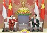 Chủ tịch Quốc hội Nguyễn Sinh Hùng hội đàm với Chủ tịch Quốc hội Singapore