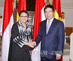 Phó Thủ tướng Phạm Bình Minh hội đàm với Ngoại trưởng Indonesia