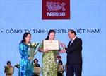 Nestlé nhận giải thưởng 'Thương hiệu vàng thực phẩm Việt Nam'