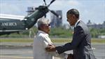 Ông Obama lên soái hạm Philippines, mở đầu chuyến thăm