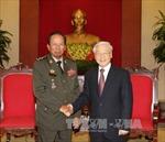 Tổng Bí thư Nguyễn Phú Trọng tiếp Bộ trưởng Quốc phòng Campuchia