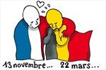 """Mạng xã hội """"đổi màu"""" cầu nguyện cho Brussels"""