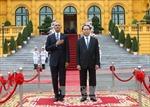 Chủ tịch nước Trần Đại Quang chủ trì lễ đón Tổng thống Obama