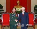 Tổng Bí thư tiếp Bộ trưởng Bộ Quốc phòng Lào