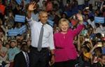 Tổng thống Obama vận động tranh cử cho bà Hillary