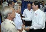 Chủ tịch nước tiếp xúc cử tri Thành phố Hồ Chí Minh