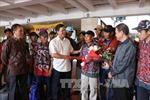 Indonesia lần đầu trao trả ngư dân Việt Nam trên biển