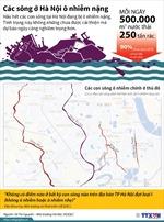 Các sông ở Hà Nội ô nhiễm nặng
