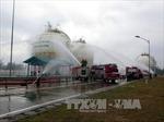 Diễn tập phòng chống cháy nổ tại kho khí hóa lỏng Dung Quất