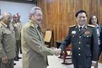 Chủ tịch Cuba Raúl Castro tiếp Bộ trưởng Quốc phòng Ngô Xuân Lịch