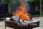 Thái Nguyên: Tiêu hủy tang vật vụ án vận chuyển trái phép chất ma túy