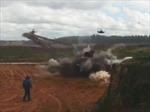 Trực thăng Nga 'bắn nhầm' rocket vào người xem trong một cuộc tập trận